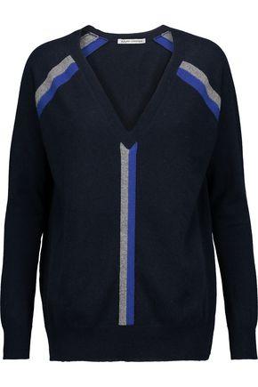 AUTUMN CASHMERE Boyfriend striped cashmere sweater