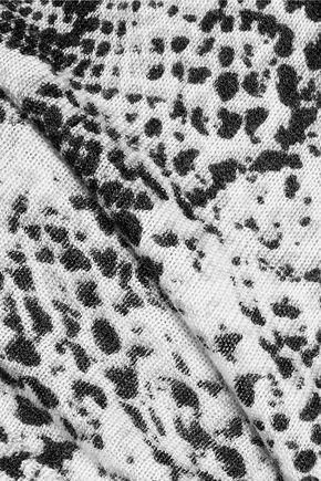 EQUIPMENT FEMME Ondine snake-print silk and cashmere-blend sweater