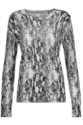 EQUIPMENT FEMME Ondine snake-print silk and cashmere-blend sweater