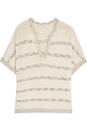 VINCE. Flecked wool-blend sweater