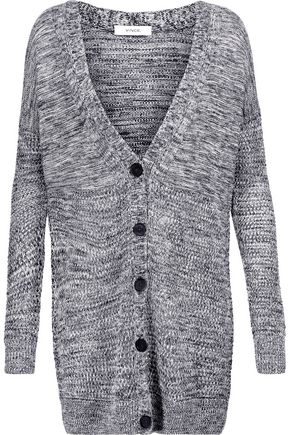VINCE. Marled open-knit cardigan