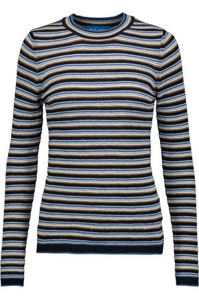 M.I.H JEANS Moonstone striped merino wool sweater