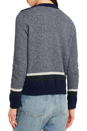 M.I.H JEANS Gurnsey striped wool-bleand sweater