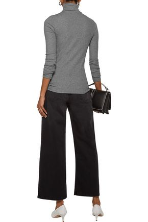 J BRAND Ribbed stretch-cotton turtleneck sweater