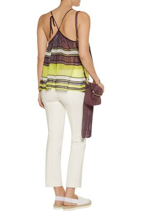 M MISSONI Crochet-knit cotton-blend tank
