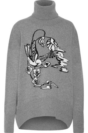 MARKUS LUPFER Intarsia-knit wool turtleneck sweater