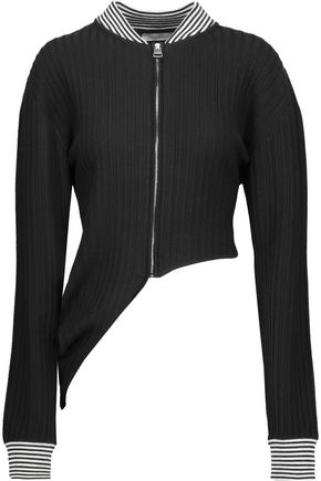 J.W.ANDERSON Asymmetric ribbed stretch-wool cardigan