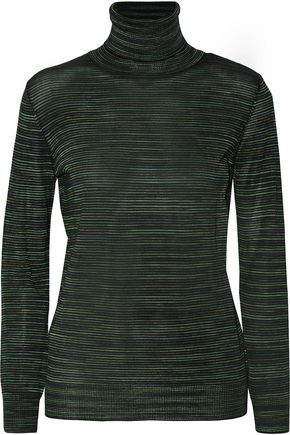 M MISSONI Striped wool-blend turtleneck sweater