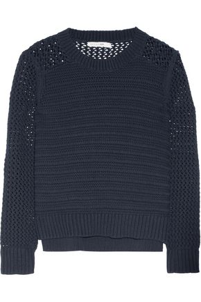 RAG & BONE Annie cable and open-knit cotton sweater