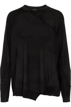 JOSEPH Asymmetric stretch-merino wool sweater
