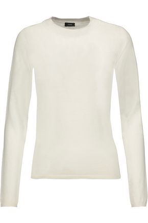 JOSEPH Silk and cashmere-blend sweater