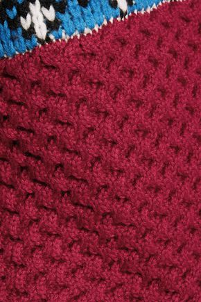 SEA Fair Isle intarsia-knit wool sweater
