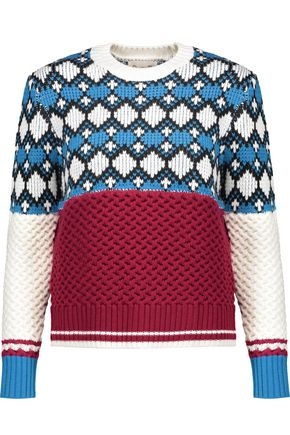 SEA Fair Isle intarsia-knit wool sweater