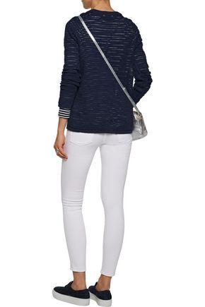 EQUIPMENT FEMME Joanne open-knit cotton and linen-blend sweater