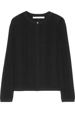 DIANE VON FURSTENBERG Lynne open and ribbed-knit cardigan