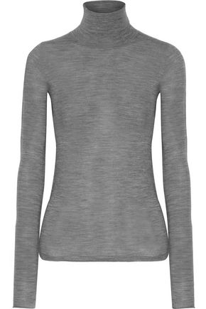 JOSEPH Marled merino wool turtleneck sweater