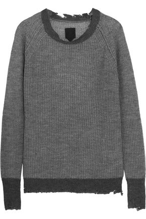 RTA Cassandra two-tone open-knit sweater