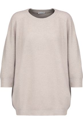 BRUNELLO CUCINELLI Metallic ribbed wool-blend sweater