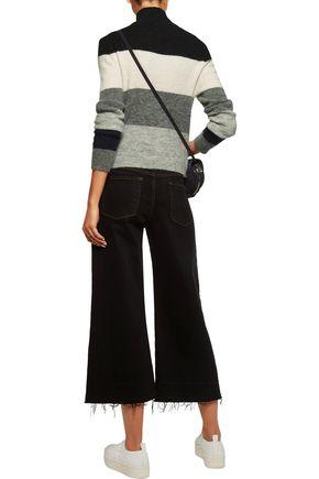 EQUIPMENT FEMME Striped alpaca-blend turtleneck sweater