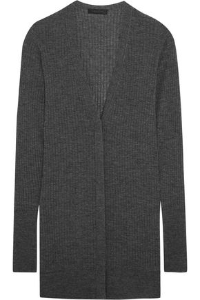 CALVIN KLEIN COLLECTION Ribbed cashmere-blend cardigan
