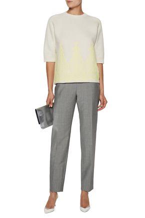 NINA RICCI Lace-paneled wool sweater