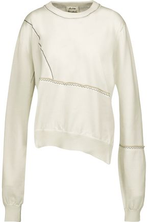 ACNE STUDIOS Anya embroidered cotton sweater ...
