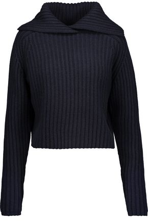 CARVEN Perl ribbed wool-blend sweater