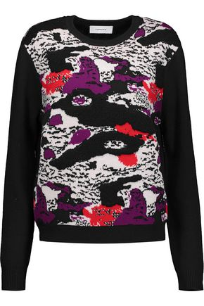 CARVEN Wool-jacquard sweater