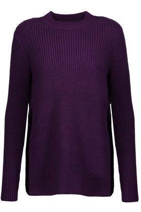 CARVEN Split-side ribbed wool sweater