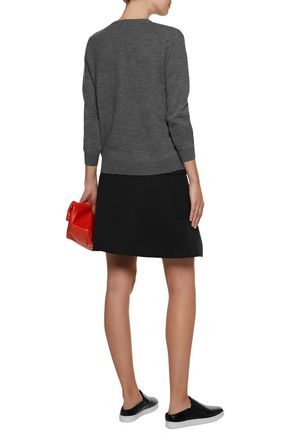 CARVEN Embroidered wool cardigan