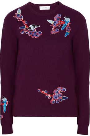 CARVEN Embroidered wool sweater