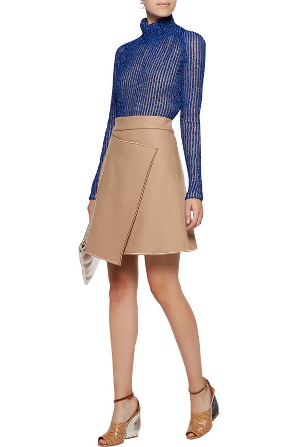Metallic ribbed-knit lamé turtleneck sweater | CARVEN | Sale up to 70% off  | THE OUTNET