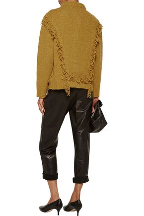 PHILOSOPHY di LORENZO SERAFINI Fringed alpaca and wool-blend cardigan
