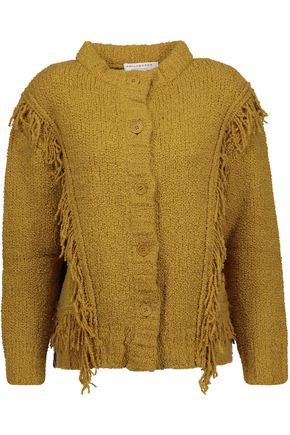 PHILOSOPHY di LORENZO SERAFINI Fringed alpaca and wool-blend cardigan