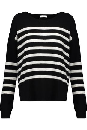 JOIE Simonne striped wool and cashmere-blend sweater