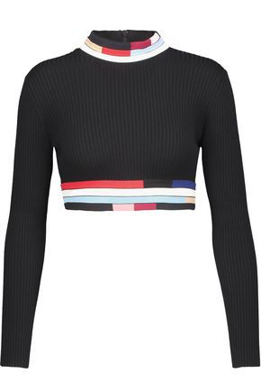 CHRISTOPHER KANE Cropped ribbed wool turtleneck sweater