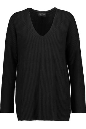 RAG & BONE Phyllis ribbed cashmere sweater