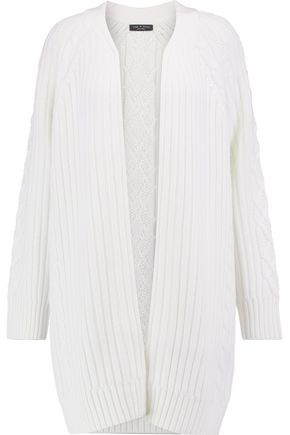 RAG & BONE Kiera wool and cotton-blend cable-knit cardigan