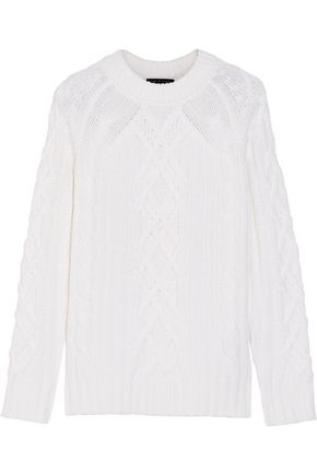 RAG & BONE Kiera cable-knit merino wool and cotton-blend sweater