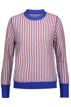 RAQUEL ALLEGRA Striped merino wool and cashmere-blend sweater