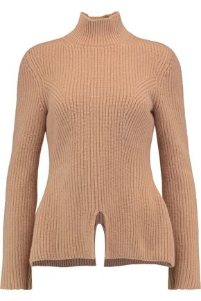 NINA RICCI Ribbed-knit wool turtleneck sweater