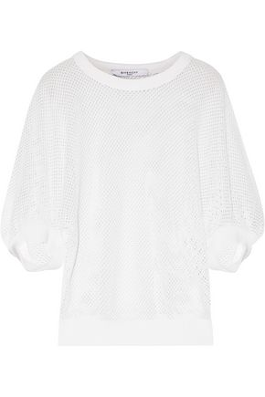 GIVENCHY Open-knit cotton-blend sweater