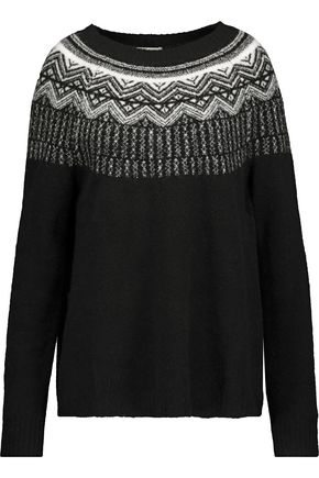 JOIE Jehannon intarsia wool-blend sweater