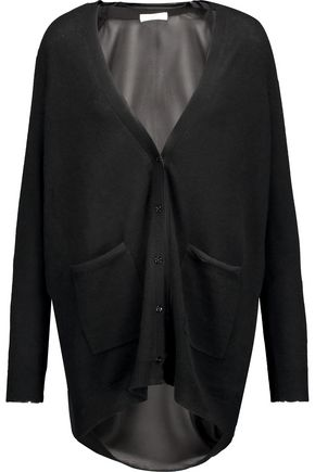 JOIE Romilly cashmere and silk-organza cardigan