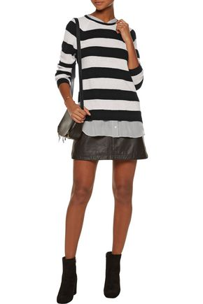 JOIE Aisly silk-trimmed striped cashmere sweater