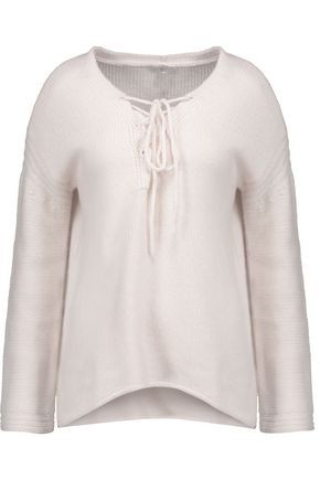 JOIE Larken lace-up cashmere sweater