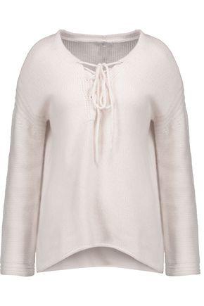 JOIE Larken lace-up cashmere sweater