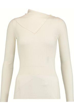 THEORY Leendelly ribbed merino wool turtleneck sweater