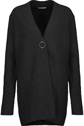 SANDRO Ribbed-knit cardigan