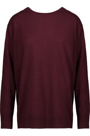 SANDRO Anita wrap-effect wool and cashmere-blend sweater
